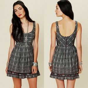 Free People Weathervane Ikat Embroidered Dress 2